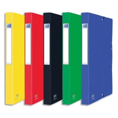 Boîte de classement personnalisable EUROBOx - En carte lustrée - Dos de 25 mm - Coloris assortis.