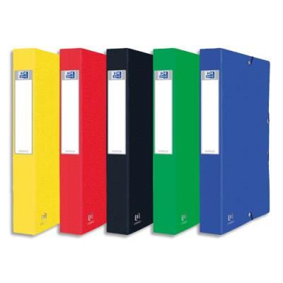 Boîte de classement personnalisable EUROBOx - En carte lustrée - Dos de 40 mm - Coloris assortis.