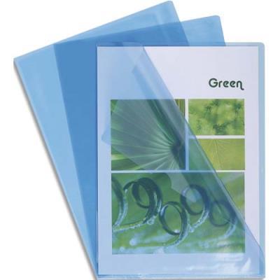 Boîte de 100 pochettes coin Claircell - en PVC 14/100 ème - coloris bleu (photo)
