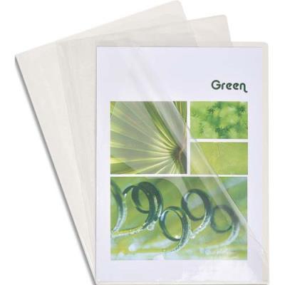 Boîte de 100 pochettes coin Exacompta - en PVC 14/100 ème - coloris cristal (photo)