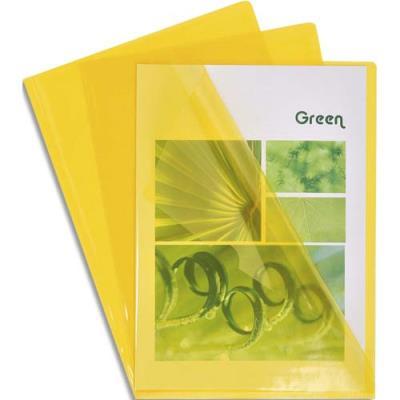 Boîte de 100 pochettes coin Claircell - en PVC 14/100 ème - coloris jaune (photo)