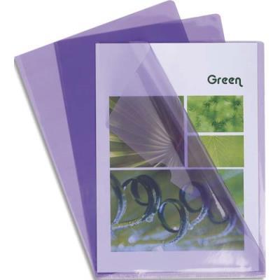 Boîte de 100 pochettes coin Claircell - en PVC 14/100 ème - coloris parme (photo)