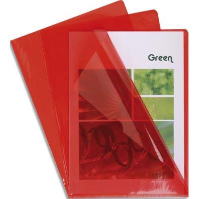 Boîte de 100 pochettes coin Claircell - en PVC 14/100 ème - coloris rouge (photo)