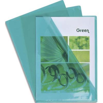 Boîte de 100 pochettes coin Claircell - en PVC 14/100 ème - coloris vert (photo)