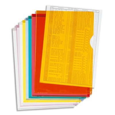 Boîte de 100 pochettes coin Claircell - en PVC 14/100 ème - coloris assortis (photo)