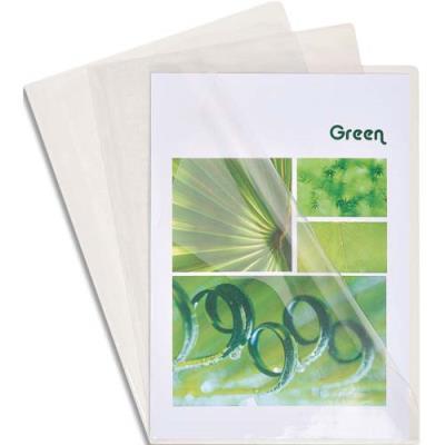 Boîte de 50 pochettes coin Claircell - en PVC 20/100 ème. - coloris cristal (photo)