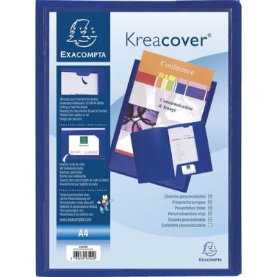 Chemise de présentation personnalisable Exacompta Krea Cover - 2 rabats - polypro 4/10e- Coloris bleu (photo)