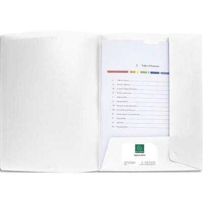 Chemise de présentation personnalisable Exacompta Krea Cover - polypro souple - 24 x 32 cm - 2 rabats - blanc (photo)