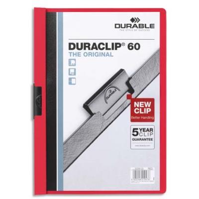 Chemise de présentation à clip Duraclip 60 - A4 - capacité 60 feuilles - rouge (photo)