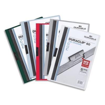 Chemise de présentation à clip Duraclip A4 - capacité 30 feuilles - coloris assortis. (photo)