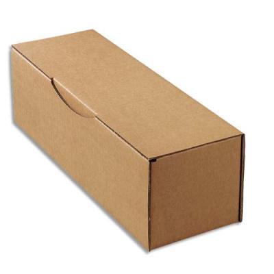 Boîte postale brune d'expédition pour bouteille - 33 x 10 x 10 cm (photo)