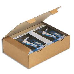 Boîte postale brune d'expédition en carton - 43 x 30 x 12 cm - pour cadre, jeux, tableaux (photo)