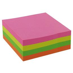 Bloc cube repositionnables - 75x75 mm - 320 feuilles - vif assortis (photo)