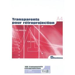 Boîte de 100 transparents pour imprimantes laser - 100 microns - format A4 (photo)