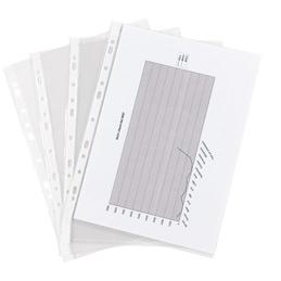 Pochettes perforées - polypropylène 7,5/100ème - aspect lisse - A4 - sachet de 100 (photo)