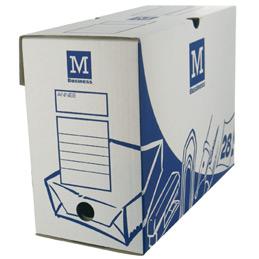 Boîtes à archive - format 34 x 25 cm - dos 15 cm - paquet de 10 - blanc