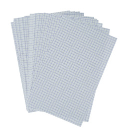 Fiches bristol non perforées quadrille 5x5 - carte forte 210 g - 12,5x20 cm - blanc - paquet de 100 (photo)