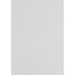 Fiches bristol non perforées quadrille 5x5 - carte forte 210 g - 21x29,7 cm - blanc - paquet de 100 (photo)