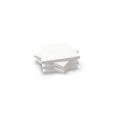 Serviette de table jetable - triple épaisseur - 33 cm - blanc uni - paquet 125 unités (photo)