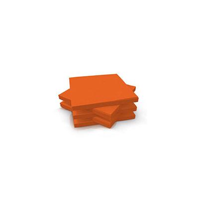 Serviettes de table jetables en ouate 3 plis - 33 x 33 cm - mandarine - paquet 125 unités (photo)