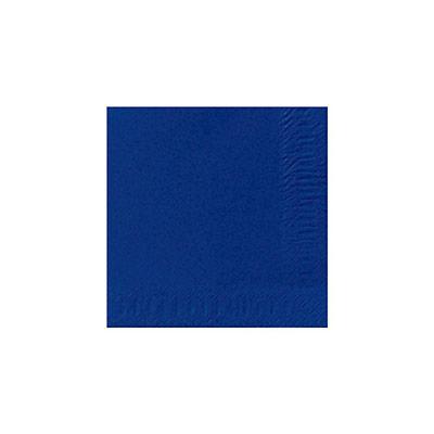 Serviette de table jetable - triple épaisseur - 33 cm - bleu foncé - paquet 125 unités (photo)