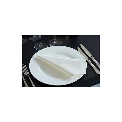Serviettes de table jetables Dunisoft - 40 x 40 cm - blanc - paquet 60 unités (photo)