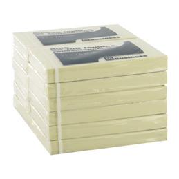 Blocs de notes repositionnables - 50 x 75 mm - 100 feuilles - jaune pastel - lot de 12 (photo)