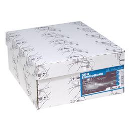 Enveloppes 110x220 - blanches - bande de protection - 90 g - boîte de 500 (photo)
