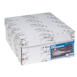 Enveloppes 110x220 - fenêtre 35x100 - blanches - bande de protection - 90 g - boîte de 500 (photo)