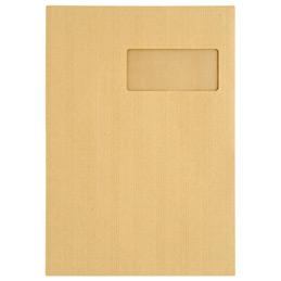 Pochettes kraft avec bande siliconée - 23x32cm - fenêtre 50x110 - 120 g - boîte de 250 (photo)