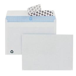 Enveloppes 114x162 blanches bande de protection 80 g boîte de 500