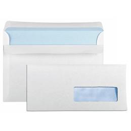 Enveloppes 110x220 GPV - fenêtre 35x100 - blanches - bande de protection - 80 g - boîte de 500 (photo)