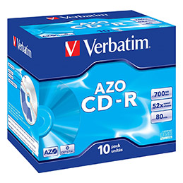CD-R Verbatim - 80mn - 700 mo - boite de 10 (photo)