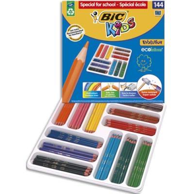 Classpack de 144 crayons Evolution 12 - couleurs assorties Ecole (photo)