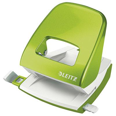 Perforateur 2 trous Leitz Wow - 30 feuilles - effort réduit de 60% - vert anis (photo)