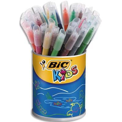 Pot de 36 feutres de coloriage Bic Kids Couleur - pointe moyenne - coloris assortis