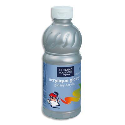 Acrylique  brillante - 500ml - Glossy Color& Co - Argent (photo)