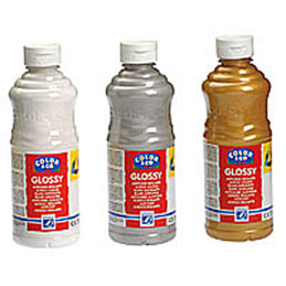 Acrylique  brillante - Assortiment de 6 flacons de  500ml - Glossy Color& Co - couleurs assorties (photo)
