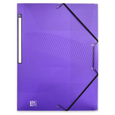 Chemise 3 rabats à élastiques Oxford Osmose A4 en polypropylène - violet translucide (photo)