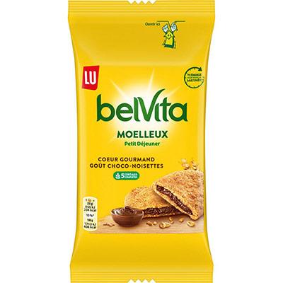 Belvita gâteaux moelleux Petit déjeuner - cœur gourmand chocolat-noisettes - sachets fraîcheur de 50 g - carton 14 x 50 grammes (photo)