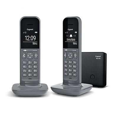 Téléphone sans fil CL390 pack duo - gris foncé (photo)