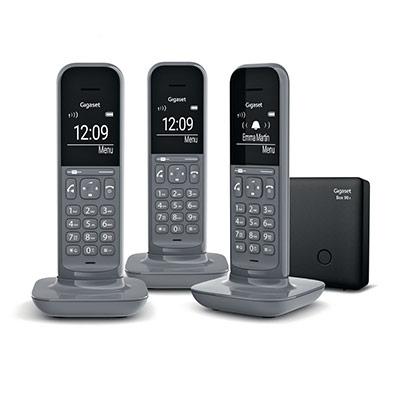 Téléphone sans fil CL390A pack trio avec répondeur - gris foncé (photo)