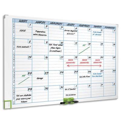 Planning magnétique effaçable Mensuel Acco - 60 x 90 cm - 8 colonnes - 31 lignes (photo)