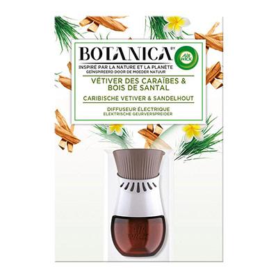 Diffuseur électrique Botanica parfum vétiver des Caraïbes et bois de Santal - 19ml (photo)