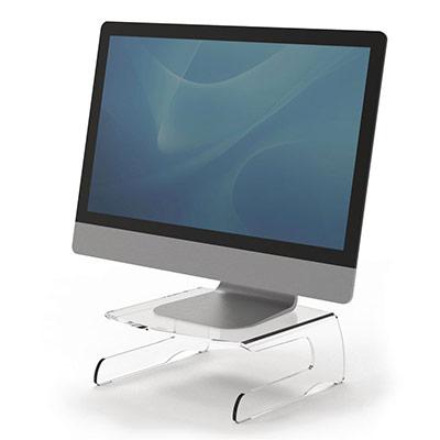 Support pour écran Fellowes Clarity en acrylique transparent (photo)
