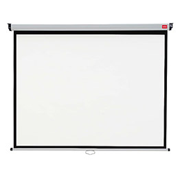 Ecran de projection mural Nobo - 200 x 151 cm - surface blanc mat (photo)
