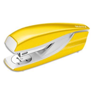 Agrafeuse Leitz 5502 - utilise les agrafes 24/6 26/6 - orange métallisé - 30 feuilles