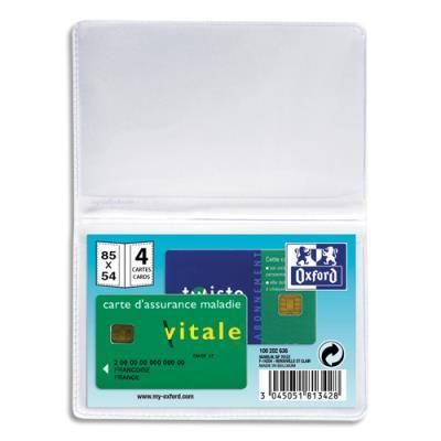 Etuis pour 4 cartes de crédit ELBA - 6,5 x19,5 cm - PVC 30/100eme