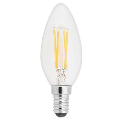 Ampoule LED flamme - à filament - 2,5W - culot E14 - 250 lumens - 2700K - classe A++ (photo)