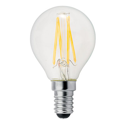 Ampoule LED à filament 2,5W - culot E14 - 250 lumens - 2700K - classe A++ (photo)